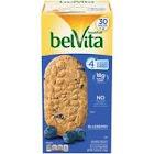belVita Breakfast Biscuits, Blueberry, 1.76 oz, 30-Count