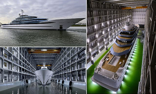 Giant superyacht comes with a swimming pool, beach club and aquarium