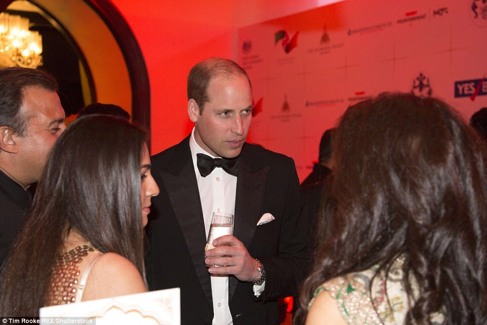 The Prince was keen to chat to some of the Bollywood actresses as he made his way around the room at the glittering event