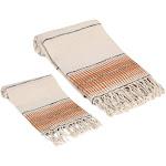 Amber Linen Turkish Towel Set, Tobacco