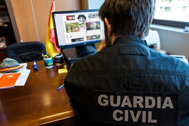 La Guardia Civil ha detenido a 5 personas en los últimos meses por enaltecimiento del terrorismo en redes sociales gracias a la colaboración ciudadana