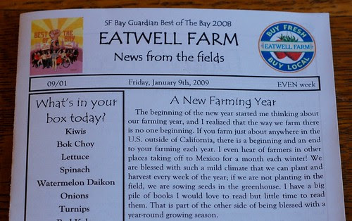 Eatwell newsletter1-9-09