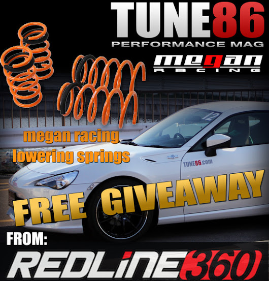 FREE lowering springs from Redline360 & Tune86!