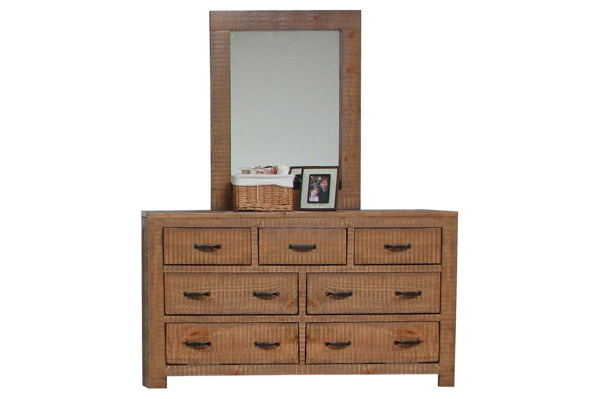 Honey Dresser + Mirror at Gardner-White