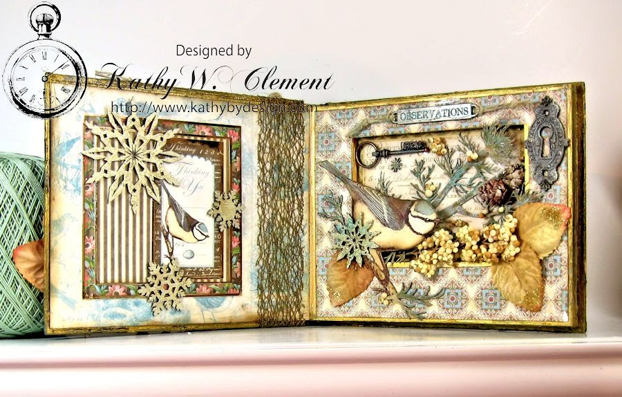 Kathy by Design Winter Bird Altered Book for Gypsy Laser Cuts 04