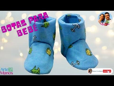 8cebca73e Arte en Tus Manos con Lili y Sam  Botas para Bebé en tela paso a paso