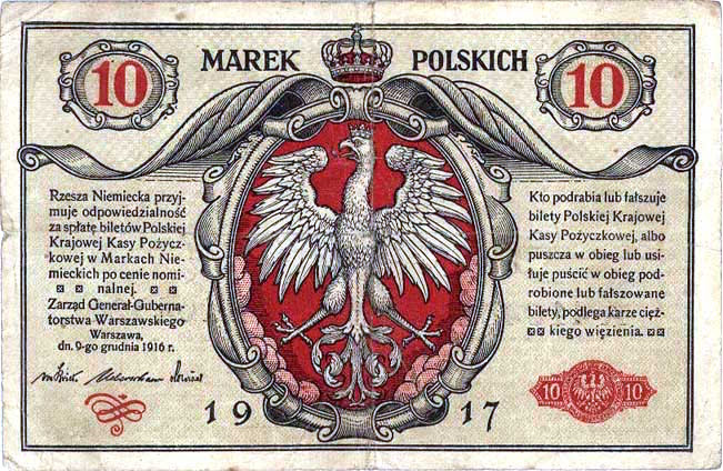 banknote of the Kingdom of Poland