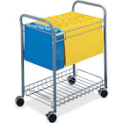 Safco Rolling Project File - Trolley - steel - gray