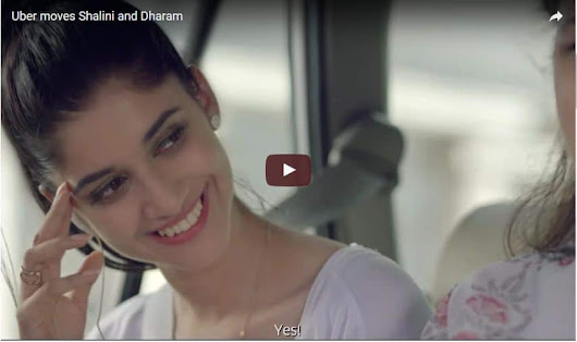 Uber moves Shalini and Dharam New Advertisement