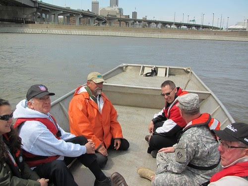 River Trip with Omaha & Council Bluff Mayors & Army Corps