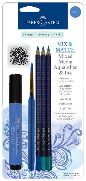 Mixed Media Aquarelle & Ink: BLUE picture