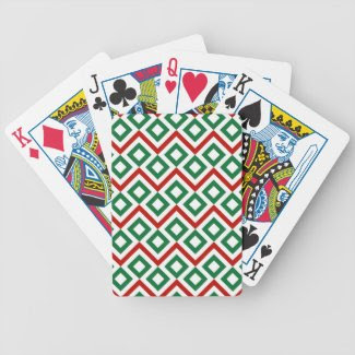 Christmas Meander Poker Deck