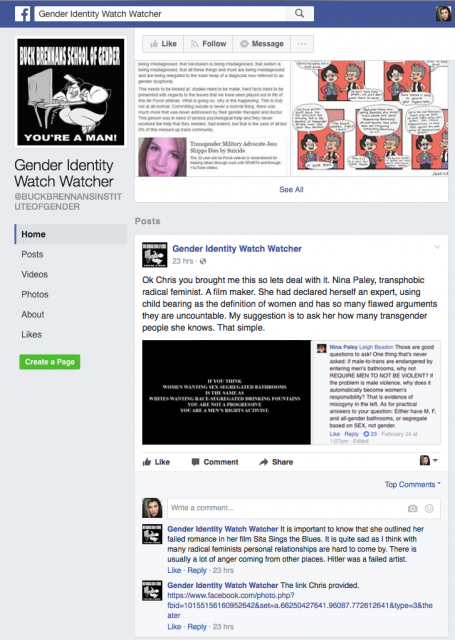 The TERFening: attempting to document a convoluted online silencing campaign « Nina Paley's Blog