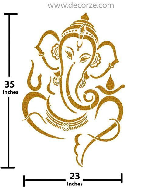 Sri Ganesh Stencil for pooja room in 2019   Sculpture