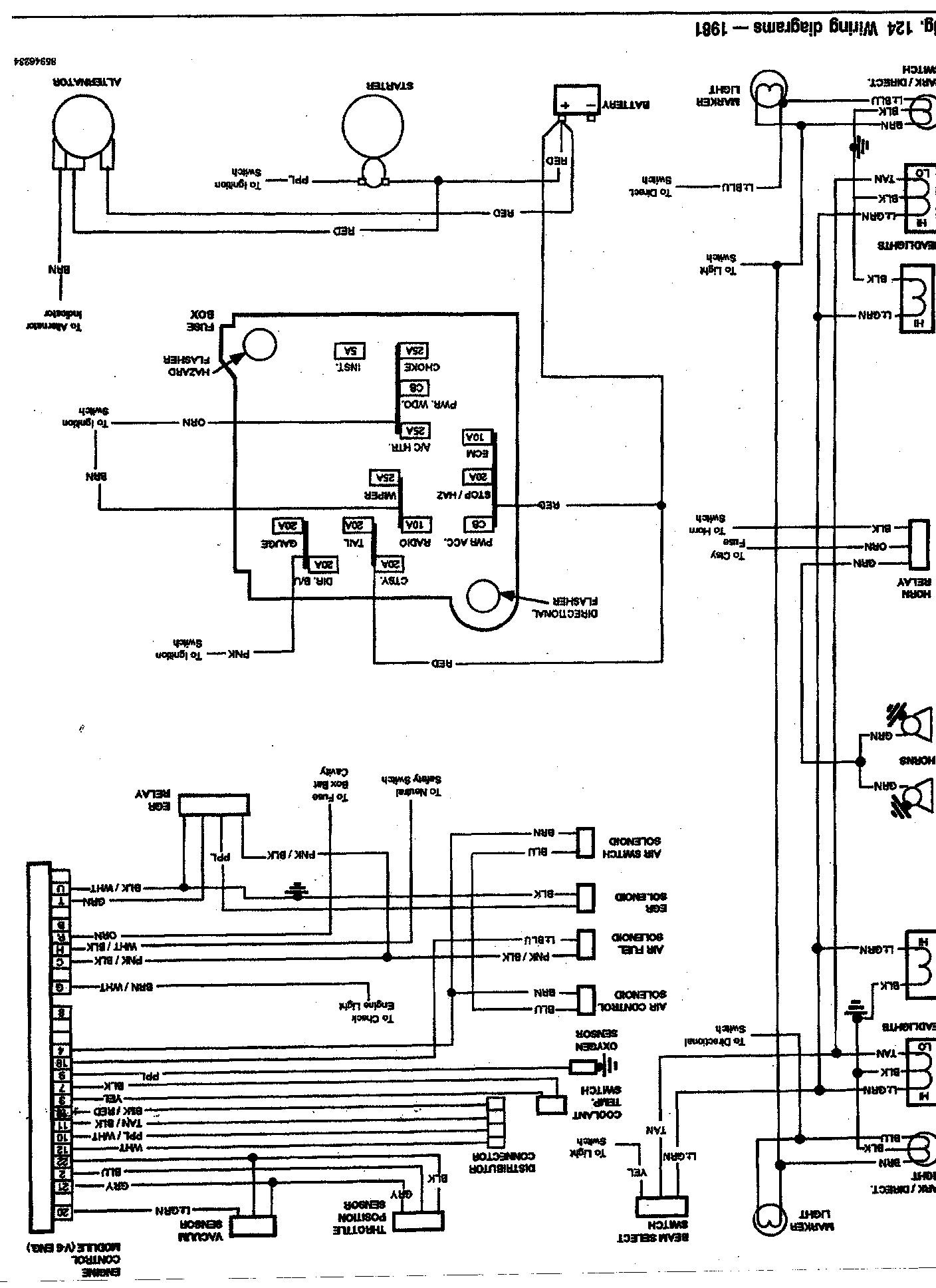 1987 El Camino Radio Wiring Diagram Schematic