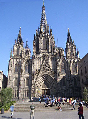 Cathedral of Barcelona before 2007 restoration