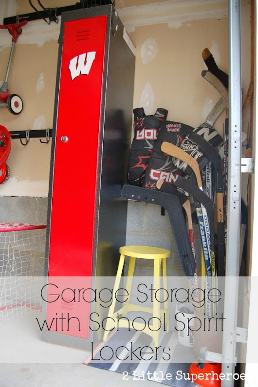 Turning Our Garage Into a Locker Room - 2 Little Supeheroes