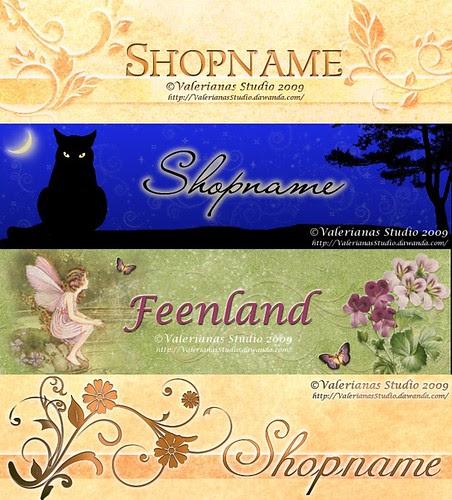 Banner for Shop or Blog