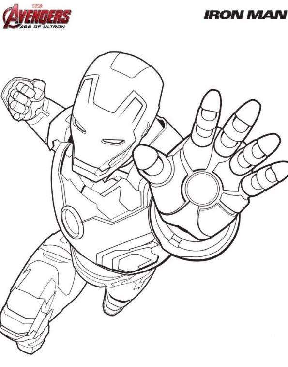Download Kids-n-fun | Kleurplaat Avengers Iron man