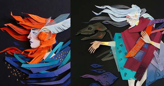 New Mythical Cut Paper Collages by Artist Morgana Wallace