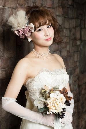 ウェディング(洋装)のヘアスタイルギャラリー Rasysa(らしさ) - 花嫁ヘアスタイルサイドアップ