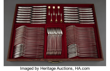 A HENRI SOUFFLOT FRENCH CASED SILVER THREE HUNDRED EIGHTY