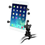 """RAM Universal X-Grip Cradle for 7"""" Tablets with U-Bolt Rail Mount Kit by PilotMall.com"""