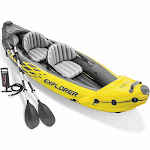 Intex Explorer K2 Kayak 2-Person Inflatable Set with Oars and Air Pump, Yellow by VM Express