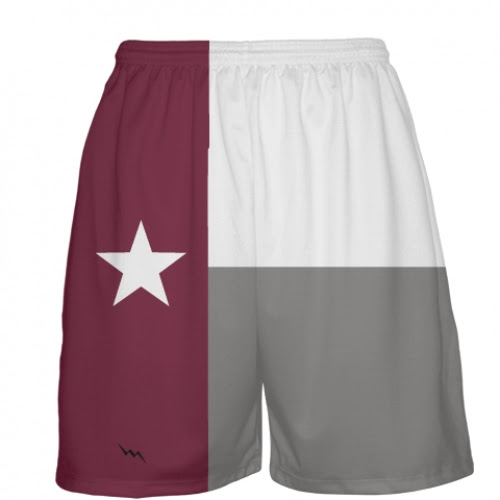 Maroon Texas Flag Basketball Short | Texas Uniforms