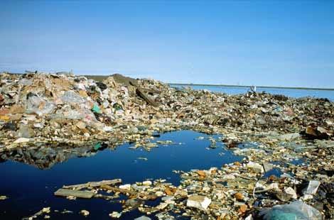 фото острова из мусора в тихом океане