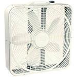 Lasko 3723 Box Fan, 2500 cfm, 3-Speed, White