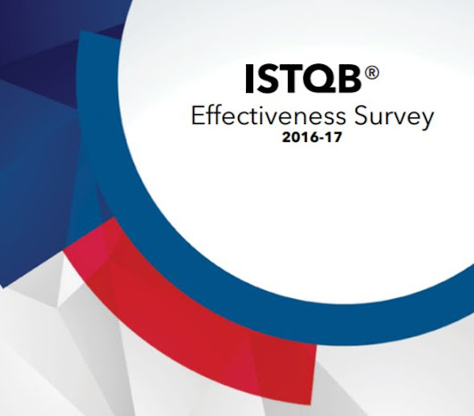 ISTQB® Effectiveness Survey Report 2016-2017 is available