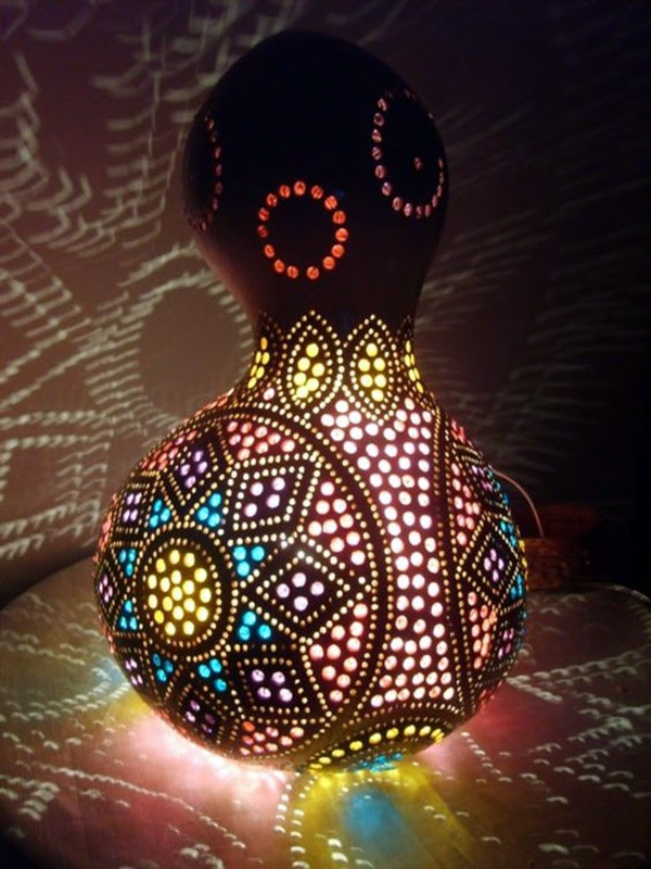 Amazing Art Inspired Gourd Lamps (8)