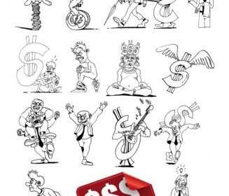 Komik Sketsa Kartun Vektor Kartun Vektor Vektor Gratis Download Gratis