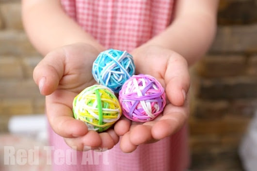 DIY Bouncy Balls - A Great Way to Use Up Rainbow Loom Bands - Red Ted Art's Blog