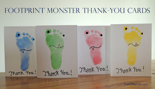 Footprint Monster Thank-You Cards *