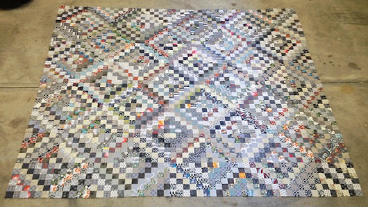 The Scrappy Trout Quilt Top