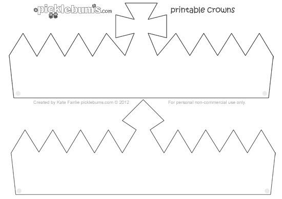 Make A Crown! - Free Printable Crown Template - Picklebums
