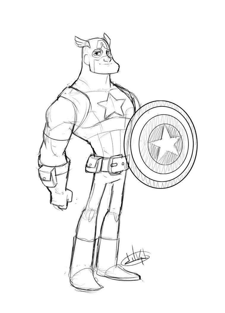 156 Dibujos De Capitán América Para Colorear Oh Kids Page 5