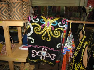 Intricate embroidery by the Kelabits of Sarawak