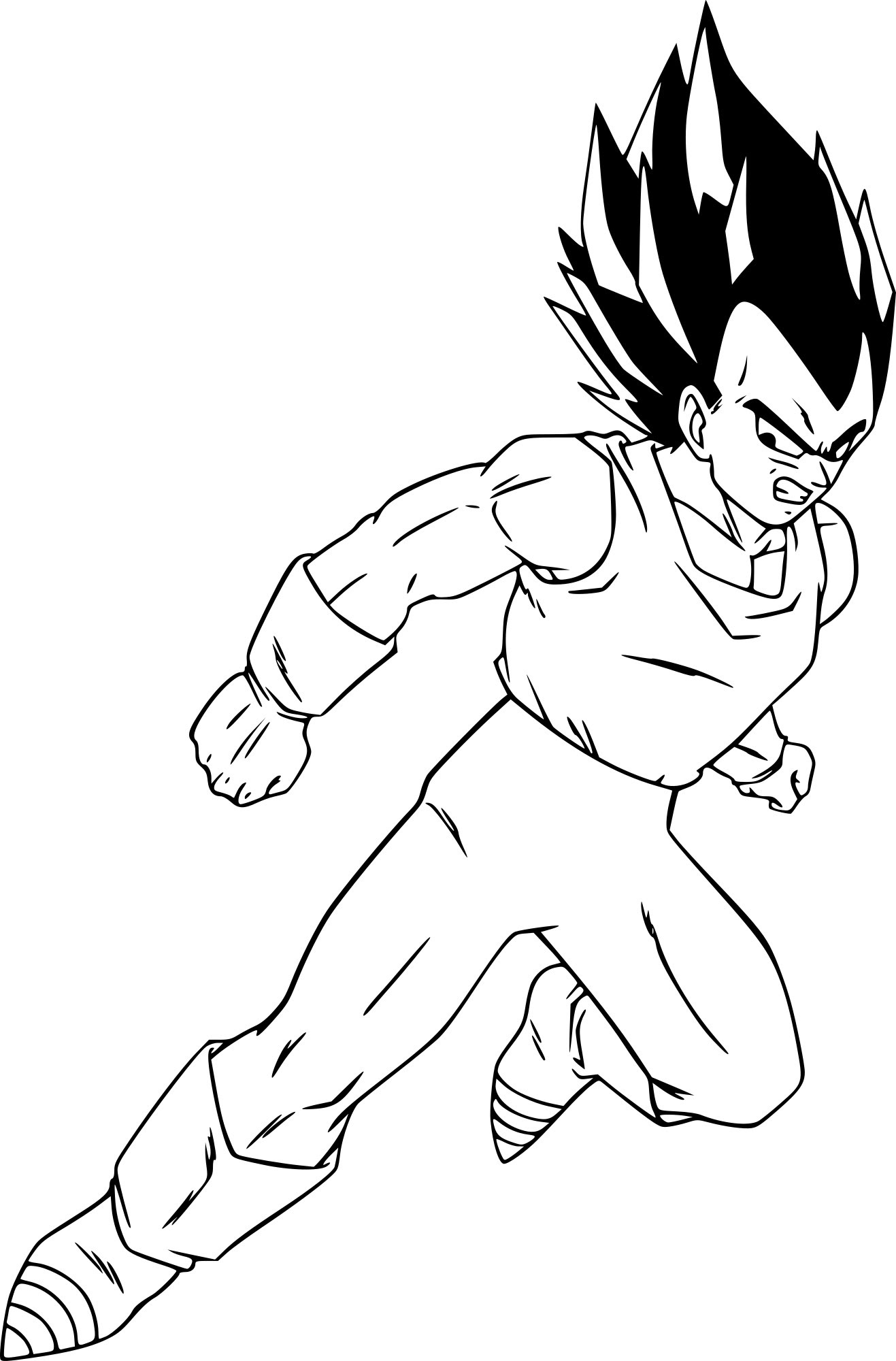 Coloriage Dragon Ball Z Vegeta à Imprimer Sur Coloriages Info