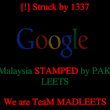 Hackers bring down Google's site in Malaysia