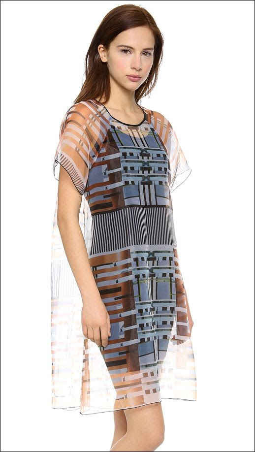 Le Fashion Blog 5 Things Clover Canyon Woven Print Sheer Organza Dress April 2014 Futuristic Sheer Oversized Dress 4 photo Le-Fashion-Blog-5-Things-Clover-Canyon-Woven-Print-Sheer-Organza-Dress-April-2014-4.jpg