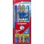 Colgate 360 Total Advanced Floss-Tip Bristles Toothbrush - Soft - 4ct