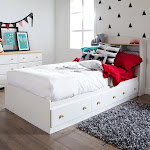 South Shore Summertime Mate's Platform Storage Bed with 3 Drawers