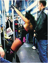 Milan Subway Pole Dancer