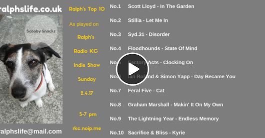 Ralph's Top 10 Chart as played on Radio KC - 2.4.17