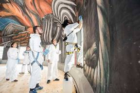 Avanzan Trabajos De Restauracion De Murales De Jose Clemente Orozco