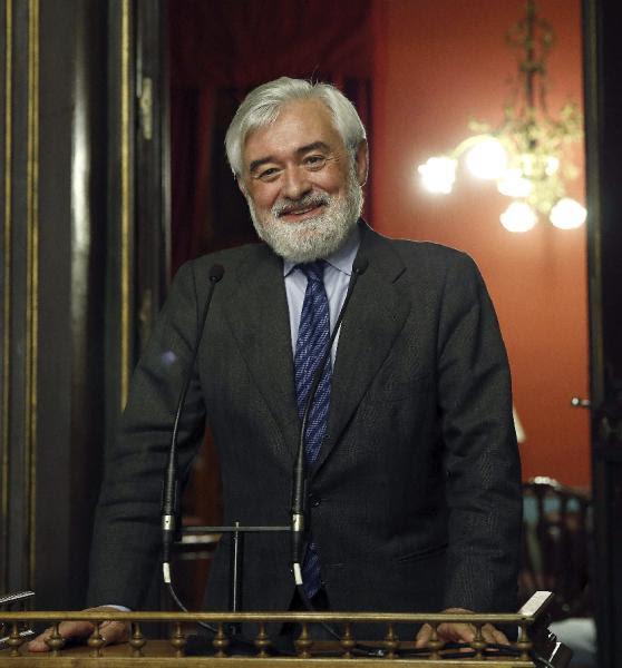 Darío Villanueva, tras haber sido elegido nuevo director de la Real Academia Española (RAE). Foto: ©EFE/Kiko Huesca