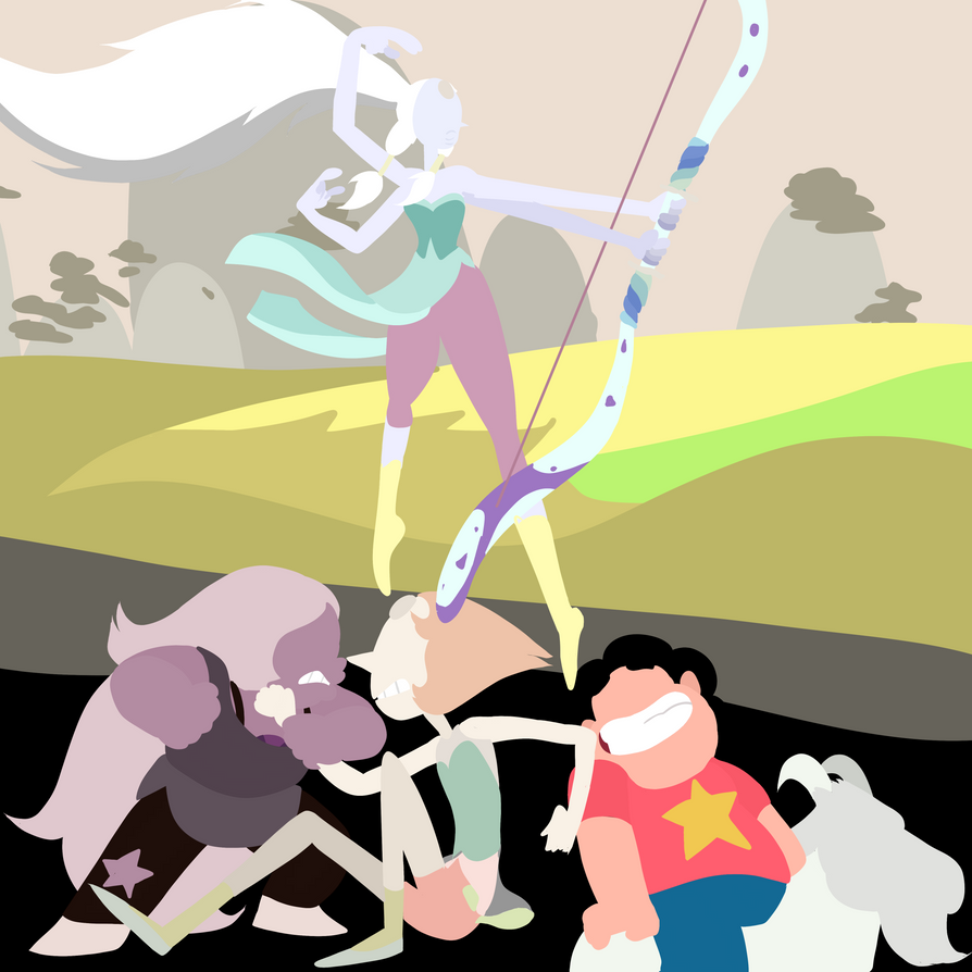 WOW Been a while since I've last posted anything SU related. Another one of those art thangs I make from which I cannot decide which positions i prefer the characters. So I just switched em and mad...
